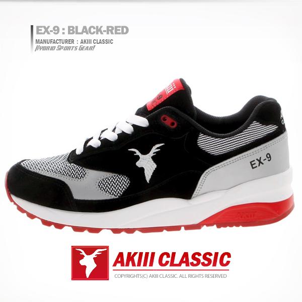 アキクラシック<br> Xのナイン(EX-9)ブラック・レッド<br> AKAESUR7404